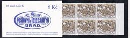 1995,  Tschechische Republik,Ceska, 72 Y MH 0-25, Freimarken: Dörfer. MNH **, Booklet. - Tschechische Republik