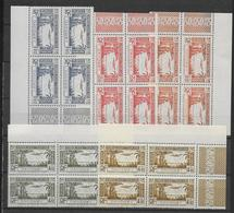DAHOMEY - 1940 - POSTE AERIENNE YVERT 1/5 ** MNH BLOCS De 4 BORD DE FEUILLE  - COTE = 19 EUR - Dahomey (1899-1944)
