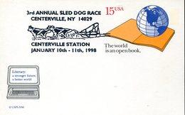 39391 U.s.a. Special Postmark 1998  Race Station   Hund, Chien, Dog - Hunde