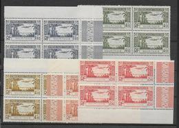 MAURITANIE - 1940 - POSTE AERIENNE YVERT 1/5 ** MNH BLOCS De 4 BORD DE FEUILLE  - COTE = 22 EUR - Mauritania (1906-1944)