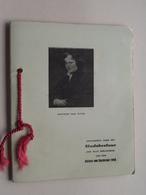 FOLDER Aangeboden Door Het STADSBESTUUR A/d Deelnemers V/d ANTOON Van DYCKSTOET 1949 ( Zie Foto's ) COMPLEET ! - Programmes
