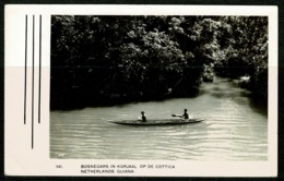 Ref 1238 - 1948 Airmail Postcard Canoe - Dutch Guiana Suriname Surinam - 7 1/2c First Day Of Issue - Surinam
