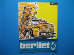 (1959/60) Fascicule Publicitaire De 8 Pages - Camions BERLIET (GBO-TBO 6x4 - GBO P 6x4 - 6x6 - T 25) - Unclassified