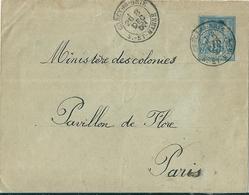 Marcophilie  -  Enveloppe -  Cachet Au Départ De CRECY En BRIE En 1900 à Destination De Paris - Autres Collections