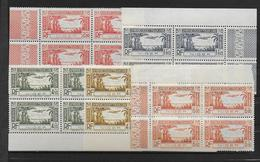 NIGER - 1940 - POSTE AERIENNE YVERT 1/5 ** MNH BLOCS De 4 BORD DE FEUILLE  - COTE = 21 EUR - Unused Stamps