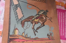 Christmas Don Quijote De La Mancha Illustrateur Ferrer - Noël