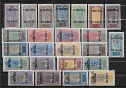 NIGER - YVERT 1/24 * MLH - COTE = 30 EUR - Niger (1921-1944)