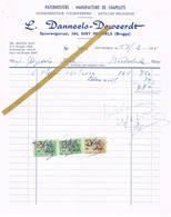 Sint-Michiels Brugge: 1955:  Paternosters -  Manufacture De Chapelets / Godsdienstige Voorwerpen   L.Danneels-Deweerdt - Belgio