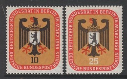 PAIRE NEUVE DE BERLIN - REUNION A BERLIN DU CONSEIL FEDERAL N° Y&T 121/122 - Neufs