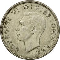 Monnaie, Grande-Bretagne, George VI, Florin, Two Shillings, 1945, TTB, Argent - 1902-1971 : Monnaies Post-Victoriennes