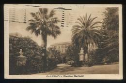 Palermo. *Giardino Garibaldi* Ed. F. Verderosa Nº 10238. Circulada 1923. - Palermo