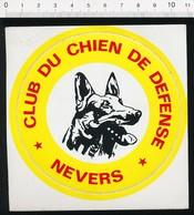 Autocollant Sticker Publicité Club Du Chien De Défense Nevers Berger Allemand 21/12ADH - Autocollants