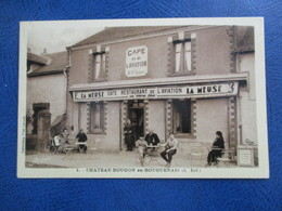 Cpa 44 LA BOUGUENAIS CHATEAU BOUGON CAFE - Bouguenais