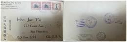 O) 1916 GUATEMALA, CHINESE CORRESPONDANCE, COLUMBUS SCOTT 122 1c Brown, STATUE OF JUSTO RUFINO BARRIOS SURCHARGED VEINTI - Guatemala