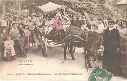 Dépt 75 - PARIS (19è Arr.) - Buttes Chaumont - La Voiture D'Enfants - (attelage D'âne) - Colorisée - District 19