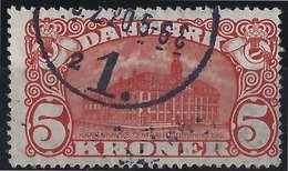 Danemark 1913 N°84,  5 Kr Oblitéré Du Dateur De Copenhague Superbe Signé Calves - Usati