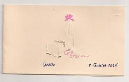 PARIS 1948  NAISSANCE  / FAIRE PART GAUFFRE / DESSIN EPURE MAIS ORIGINAL B385 - Naissance & Baptême
