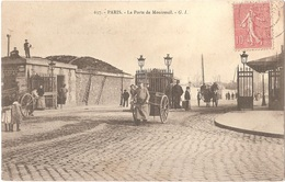 Dépt 75 - PARIS (20è Arr.) - La Porte De Montreuil - G. I. N° 637 - Arrondissement: 20