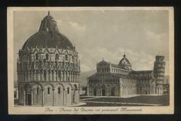 Pisa. *Piazza Del Duomo Coi Principali Monumenti* Ed. C.C.M. Circulada. - Pisa