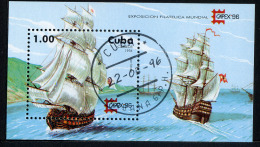 CUBA 1996, CAPEX 96, VOILIERS, 1 Bloc, Oblitéré / Used. R913 - Barche