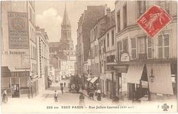 """Dépt 75 - PARIS (20è Arr.) - (rare AVEC Publicité """"AU CADRAN"""", Rue De Belleville) - Rue Julien Lacroix - Fleury 258 Bis - Arrondissement: 20"""