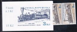 1995,  Tschechische Republik,Ceska, 81 MH 0-29, Eisenbahnverbindung Olmütz-Prag. MNH **, Booklet, - Tschechische Republik