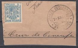 Especial Movil 038 (o) Uso Postal Sobre Fragmento. Garachico - Post-fiscaal