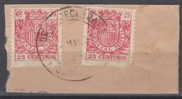 Especial Movil 056 (o) Uso Postal Sobre Fragmento. Garachico - Post-fiscaal