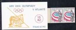 1996,  Tschechische Republik,Ceska, 116 MH 0-35, Olympische Sommerspiele, Atlanta, MNH **, Booklet, - Tschechische Republik