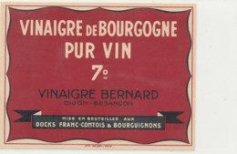 VI 66 - ETIQUETTE VINAIGRE  DE VIN    BERNARD  BESANCON - Unclassified