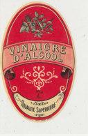 VI 81  - ETIQUETTE VINAIGRE D'ALCOOL  QUALITE SUPERIEURE - Labels
