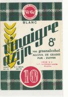 VI 84  - ETIQUETTE VINAIGRE DD'ALCOOL  AZIJN   BRUXELLES - Labels
