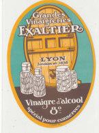 VI 89  - ETIQUETTE VINAIGRE  D'ALCOOL  VINAIGRERIE EXALTIER      LYON - Labels