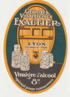 VI 90  - ETIQUETTE VINAIGRE  D'ALCOOL  VINAIGRERIE EXALTIER      LYON - Labels