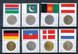 UNO WIEN Mi.Nr. 477-484 Flaggen Und Münzen Der Mitgliedstaaten - MNH - Wien - Internationales Zentrum