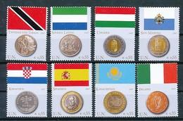 UNO WIEN Mi.Nr. 489-496 Flaggen Und Münzen Der Mitgliedstaaten - MNH - Wien - Internationales Zentrum