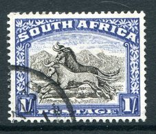 South Africa 1947-54 Screened Printing - 1/- Wildebeest - Blackish-brown & Ultramarine - Used (SG 120a) - South Africa (...-1961)