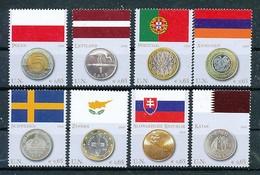 UNO WIEN Mi.Nr. 530-537 Flaggen Und Münzen Der Mitgliedstaaten - MNH - Wien - Internationales Zentrum