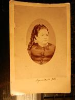 8a) FOTO DI DONNA APPLICATA SU CARTONCINO FOTOGRAFO LEDRU MESSINA SENZA DATA - Ancianas (antes De 1900)