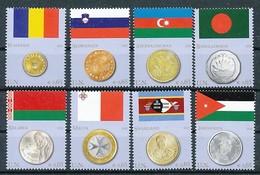 UNO WIEN Mi.Nr. 626-633 Flaggen Und Münzen Der Mitgliedstaaten - MNH - Wien - Internationales Zentrum