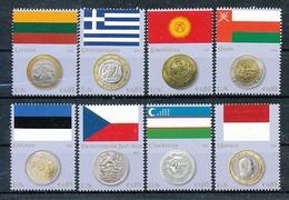 UNO WIEN Mi.Nr. 691-698 Flaggen Und Münzen Der Mitgliedstaaten - MNH - Wien - Internationales Zentrum