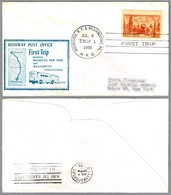 FIRST TRIP Highway Post Office: ROCHESTER NY & WILLIAMSPORT PA, 9 Julio 1955 - Correo Postal