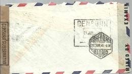 LETER 1942  CENSOR  ESPAÑA - Etats-Unis
