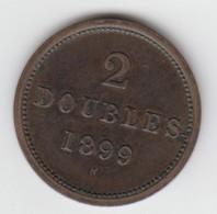 Guernsey Coin 2double 1899 - Guernsey