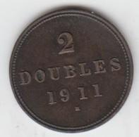 Guernsey Coin 2double 1911 - Guernsey
