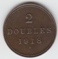 Guernsey Coin 2double 1918 - Guernsey
