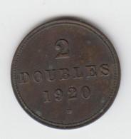 Guernsey Coin 2double 1920 - Guernsey