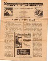 VP13.159 - PARIS 1937 - N° 22 De La Gazette Du Camping - Pub Vélo Le Cycliste & ¨ LA CHINETTE ¨ - 1900 - 1949