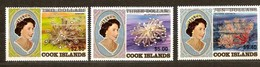 Cook Islands 1987 Yvertnr 933-935 *** MNH Cote 34 Euro Coraux Koralen Surchargé - Cook