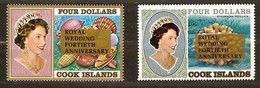 Cook Islands 1987 Yvertnr 950-951 *** MNH Cote 16 Euro Coraux Koralen Royal Wedding 40th Anniversary - Cook